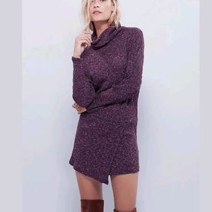 FREE PEOPLE 'By The Fire' Cowl Neck Sweater Dress
